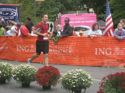 Hartford Marathon Finish