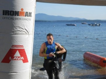 Timberman Swim Finish - Featured